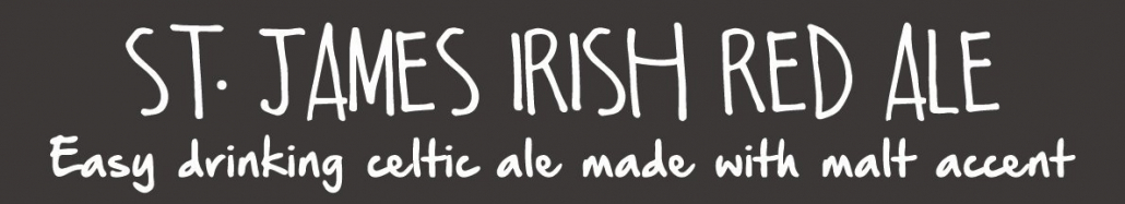 st. james irish red ale beer magnet for beer menu