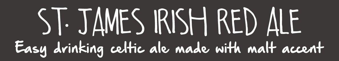st. james irish red ale beer magnet for beer menu